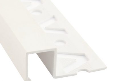 LISTELOS PVC 12X12 MM BLANCO